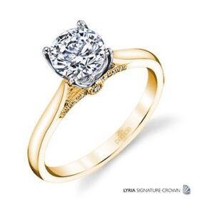 New Classic Bridal Solitaire Engagement Ring by Parade in 18K Yellow Gold