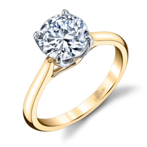 New Classic Bridal Solitaire Engagement Ring by Parade in 14K Yellow Gold