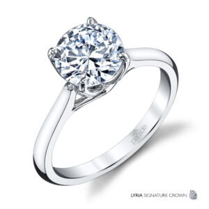 New Classic Bridal Solitaire Engagement Ring by Parade in 14K White Gold