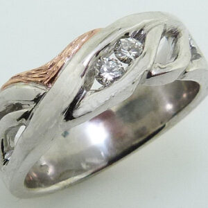 lady's White and Rose Gold Dinner Diamond Ring