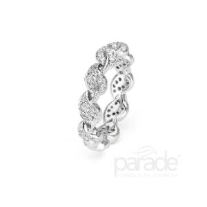 18K White Gold Eternity Wedding Band by Parade