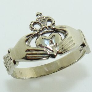 lady's 14K white gold Claddagh ring