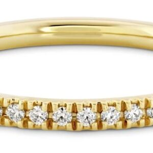 18 karat yellow gold Sloane band by Hayley Paige for Hearts on Fire.