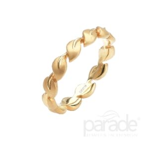 18K Yellow Lyria leaves band by Parade Designs.