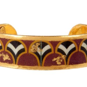 """Papyrus 0.75"""" large cuff by Evocateur. This stunning cuff features gold leaf."""