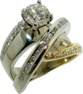 18k White and Yellow Gold and Hearts on Fire®Diamond Engagement Ring