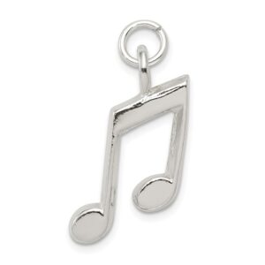 Sterling silver music note pendant.