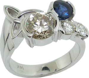 Celtic Touch Diamond Ring