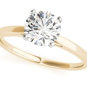 14k yellow and white gold solitaire engagement ring
