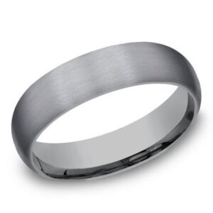Tantalum band with stainless finish, 5mm in width, size 10.