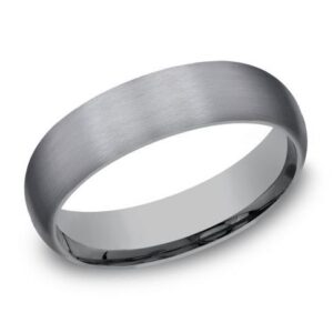 Tantalum band with stainless finish, 6mm in width, size 10.