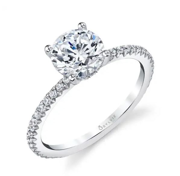 14kw Maryam engagement ring by Sylvie Collection